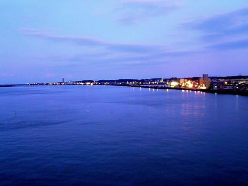 japan river twilight harbour toneriver choshicity