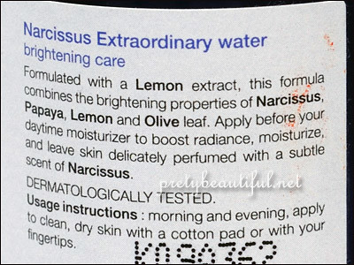 narcissus extraordinary water brightening care