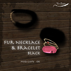 Fur Necklace &Bracelet _Black