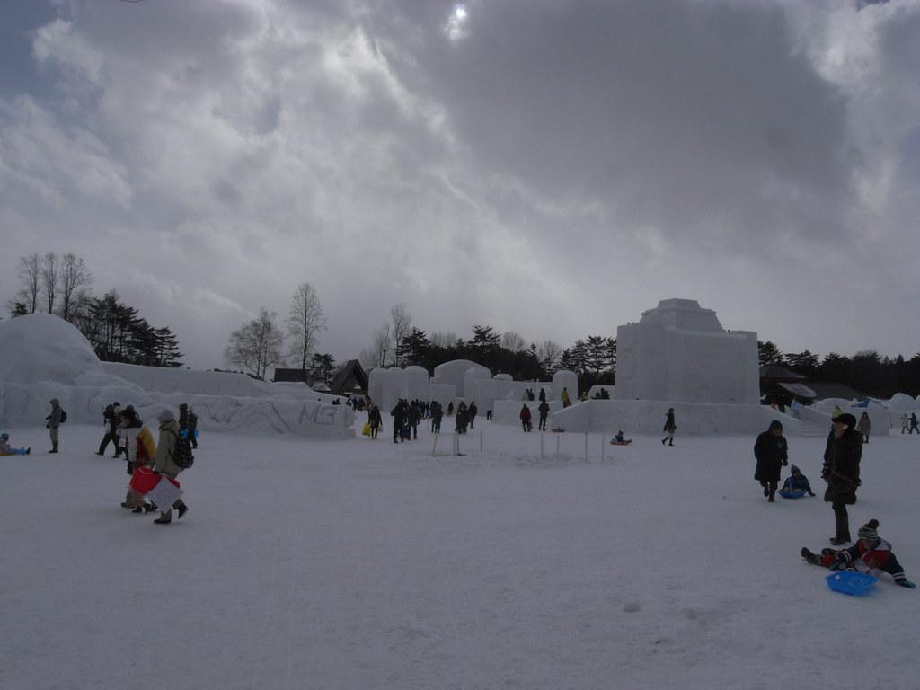 農場 まつり 小岩井 雪