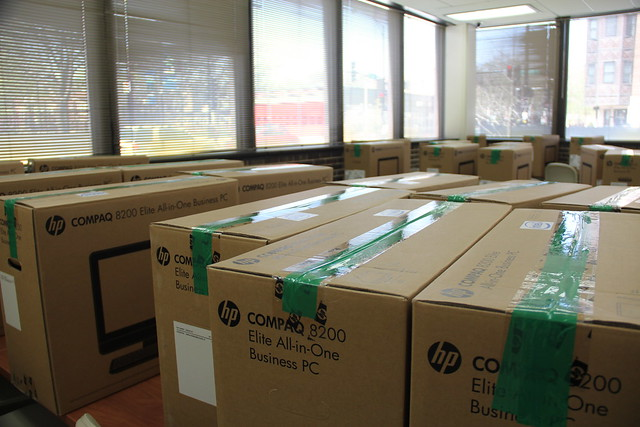 Preparations for Public Computer Center at Truman College