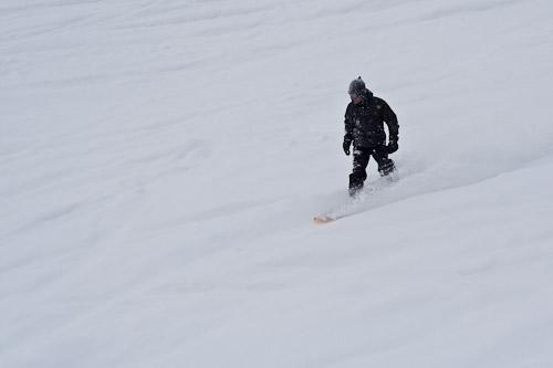 Random snowboarder