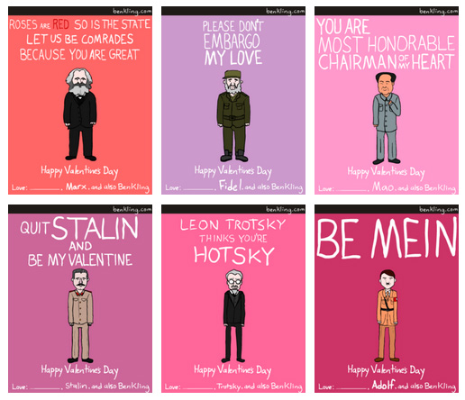 Dictator Valentines, by Ben Kling