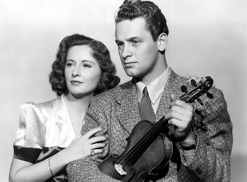 Barbara Stanwyck and young new star William Holden