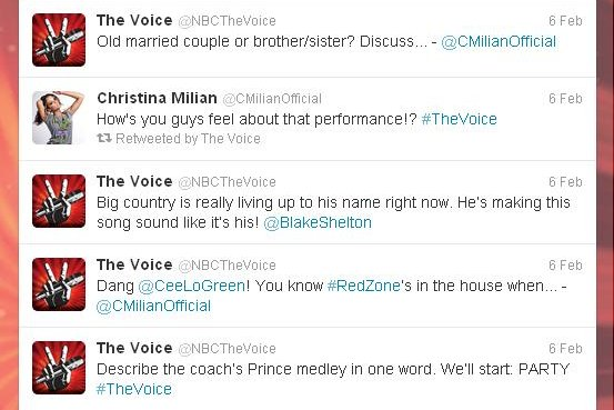 NBC The Voice on Twitter