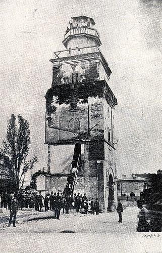 Turnul Colţei, fotografie din 1888