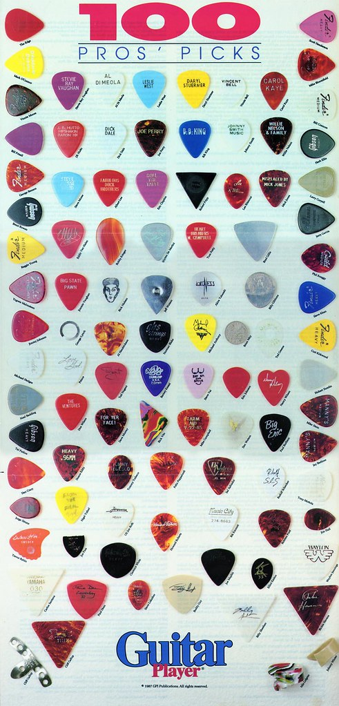 "Guitar Player Magazine Sept 1987 ""100 Pros' Picks"" Poster"