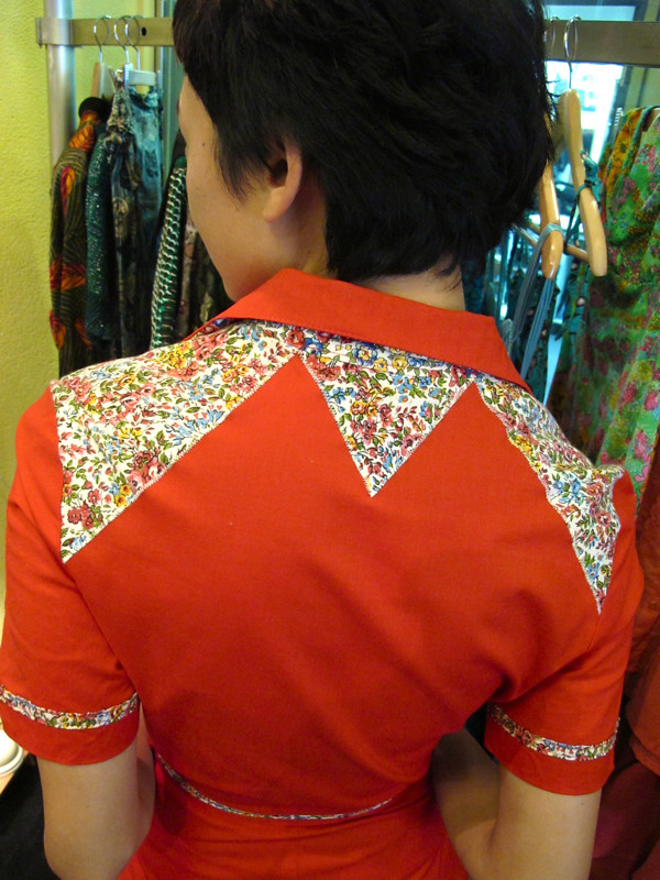 Lovely back detail on the Western dress!