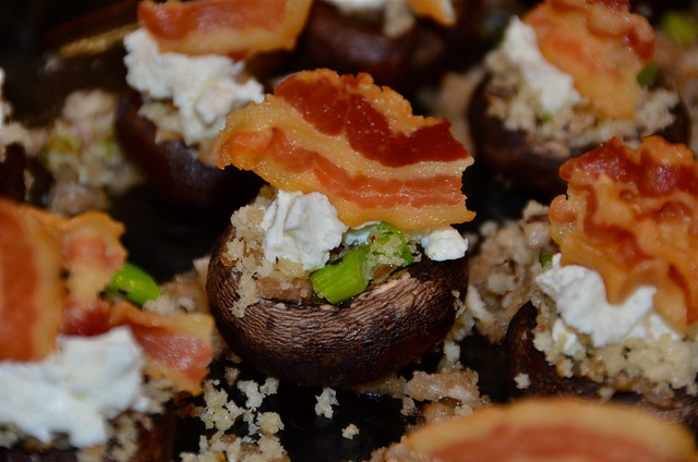 Stuffed Mushrooms with Goat Cheese & Pancetta