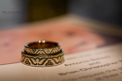 Our rings' motif symbolize our union