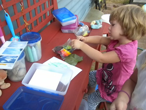 Outdoor Work Station (Photo from Discovery Days and Montessori Moments)