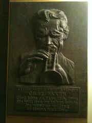 Photo of Chet Baker bronze plaque
