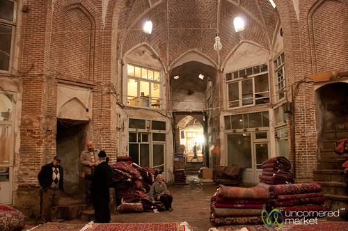 Old Persian Carpet Hall in Tabriz Market, Iran