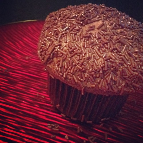 Milk Chocolate Sprinkles Cupcake