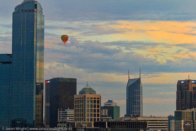Melbourne Skyline - Balloon