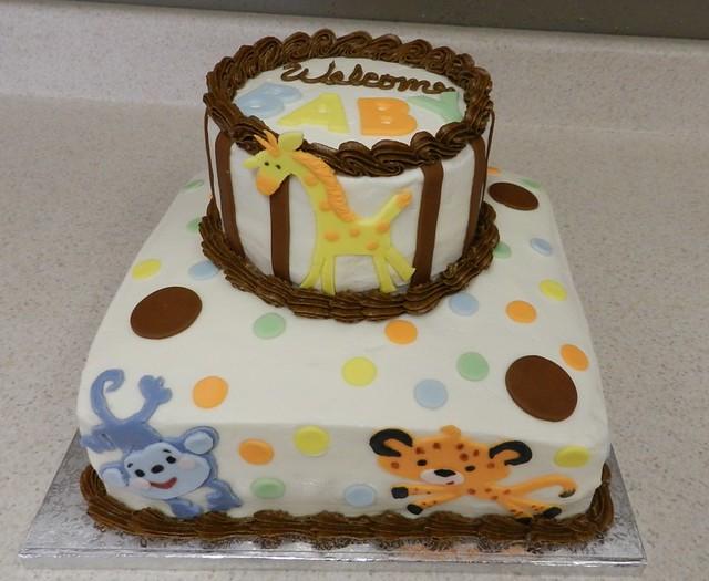 animal baby shower cake flickr photo sharing