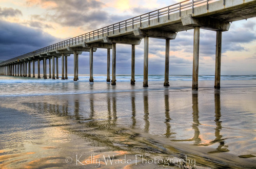 Painted Pier by nikonkell Kelly Wade Photography