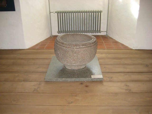 An old font from the castle