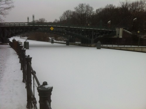 Frozen Canal, Berlin by despod