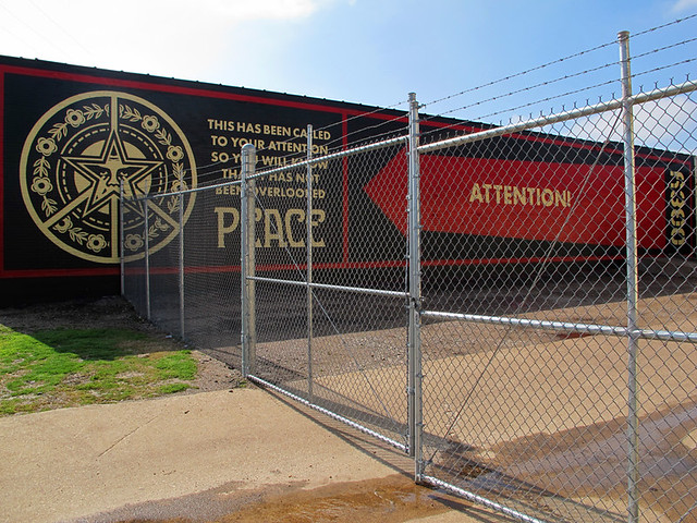 Peace Attention - Shepard Fairey In Dallas