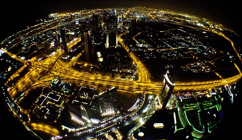 Dubai,  Burj Khalifa, view at night
