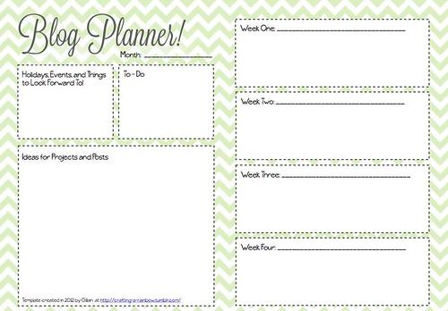 Clean image regarding blog planner template
