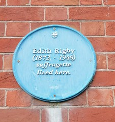Photo of Edith Rigby blue plaque