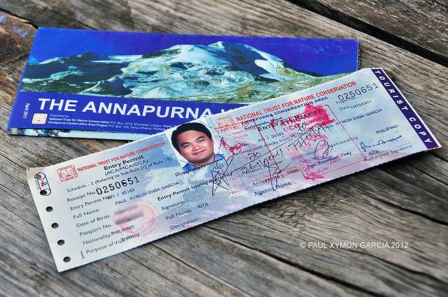 Annapurna Trekking Permit, Nepal