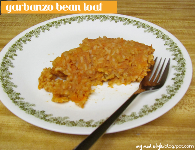 Meal garbanzo loaf