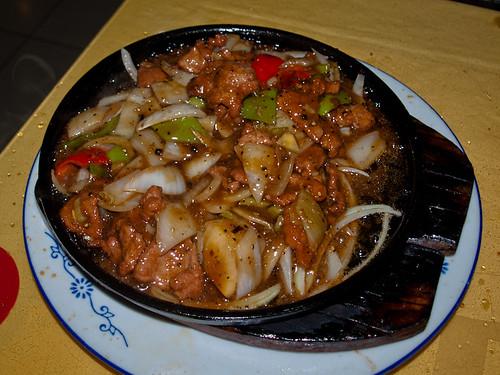 Comida china - cerdo y verduras
