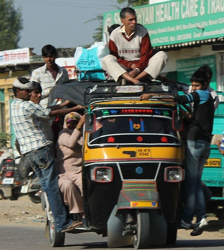 Overloaded Autorickshaw
