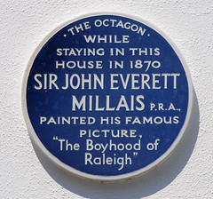 Photo of John Everett Millais blue plaque