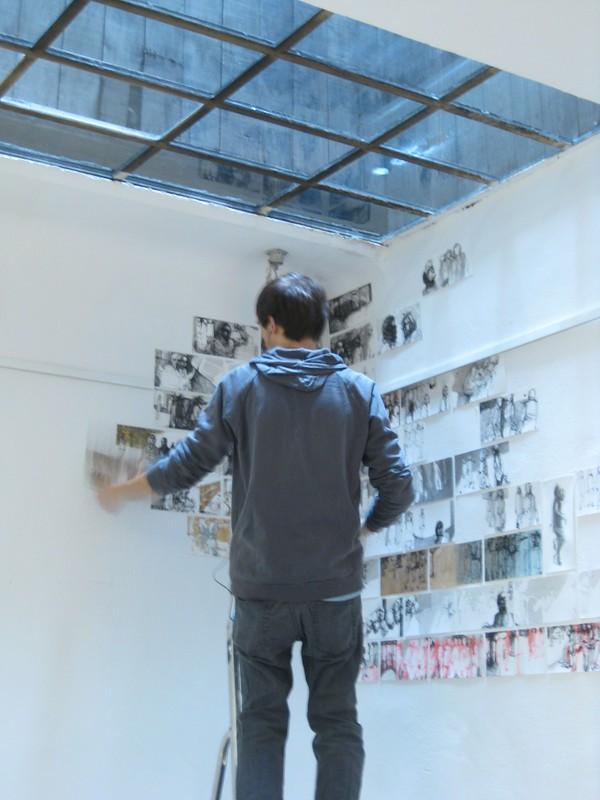 """EDUCULT Salon der Kulturen - Aufbau Ausstellung """"zone3"""""""