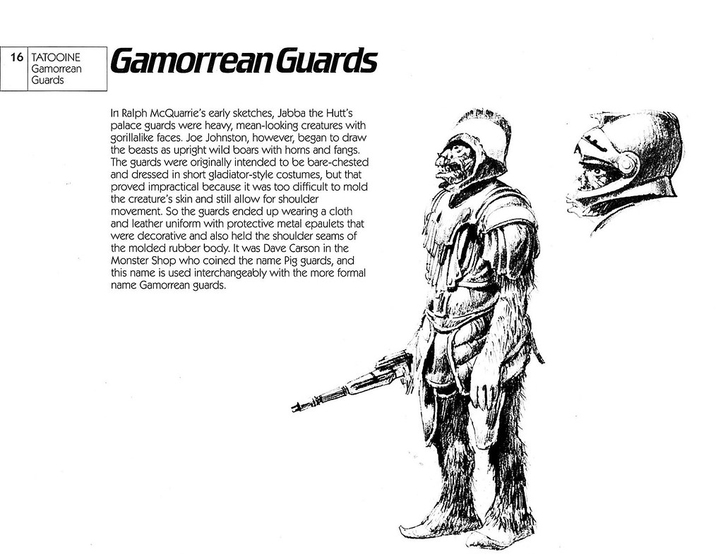 Ralph Mcquarrie - Gamorrean Guards Sketch 1