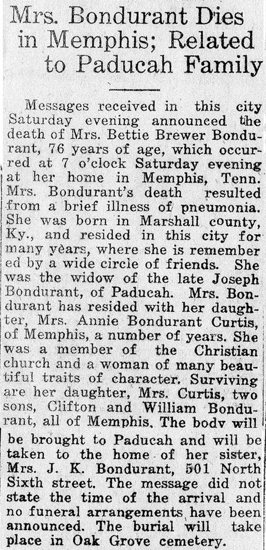 Francis Elizabeth Brewer Obituary