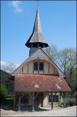 half timbered church in the Aube region