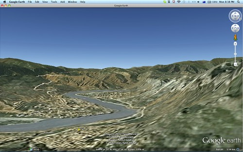 Ragya monastery 2010 on Google Earth
