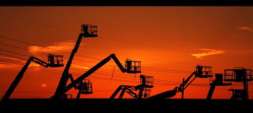 sky silhouette pentax crane dusk environment kr hfg simar skyjack manlift smcpda50200mmf456ed venetor