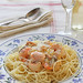 Seafood pasta with creamy sauce