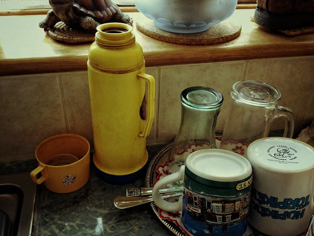 Yellow thermos flask