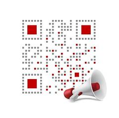 Spread the Word QR code design