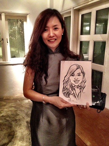 Caricature live sketching for Diageo Singapore Pte Ltd - 7