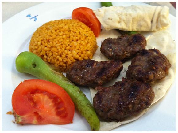 Köfte with bulgur, Mediterranean Grill - Plainpalais, Geneva