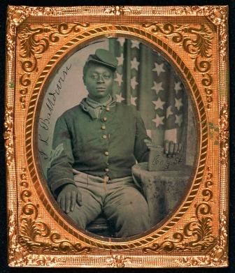 Tintype of Black Soldier