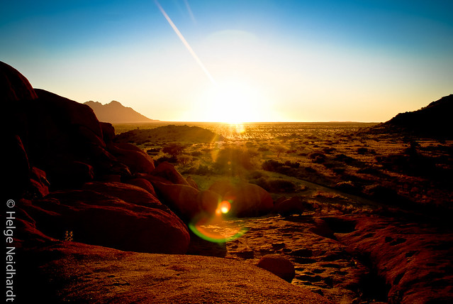"""Sundowner"" at Spitzkoppe, Namibia"