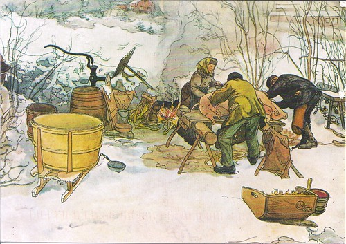 Carl Larsson Slaughtering 1905