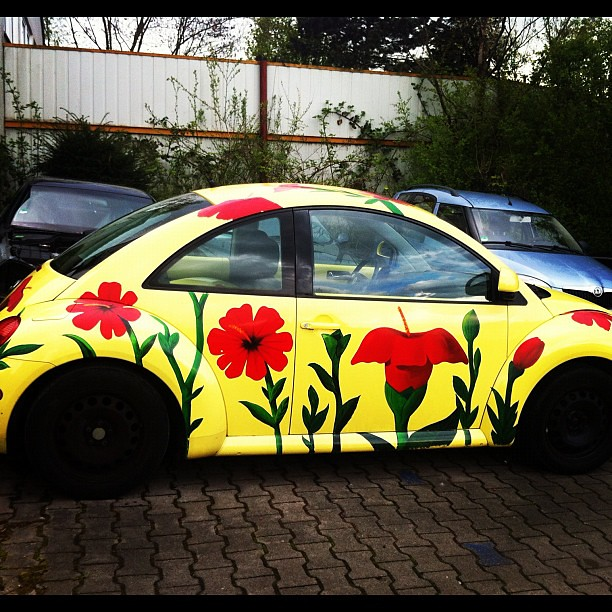 vw beetle flower power flickr photo sharing