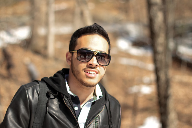 Ahmad Hajahmad Hiking in Forest