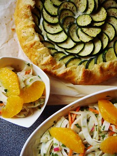 Zucchini Ricotta Galette & Orange Fennel Salad