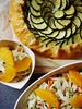 Zucchini Ricotta Galette & Orange Fennel Salad by ComeUndone